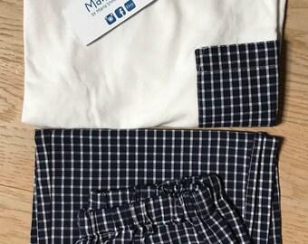 Navy blue unisex pijama