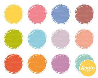 Rustic Circle Clipart Illustration for Commercial Use   0503
