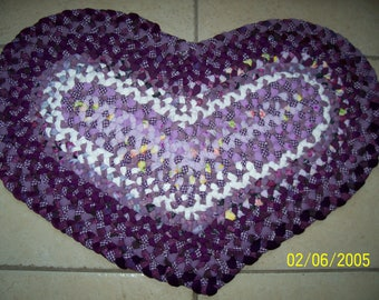 Purple/lavender Heart Shaped Rug