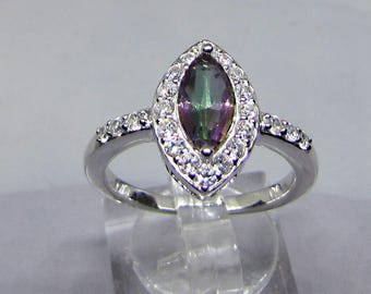 Mystic Topaz and 925 sterling silver ring. 25% with code: SOLD17