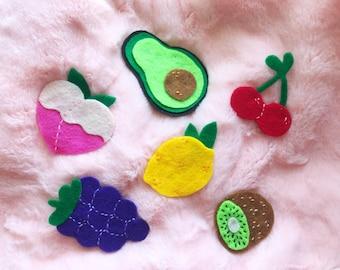 Fruity Felt Pins - Series 2
