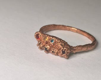 Rainbow pride copper ring size 5 1/2