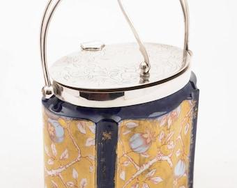 Victorian Wedgwood China Biscuit Box, Circa 1890