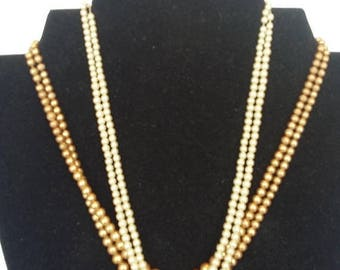 35% Off Two Pearl Necklaces w/ Sterling Silver Clasps
