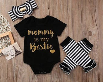 Mommy is my bestie onesie set