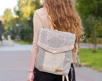 Hemp Backpack, Rucksack, Travelpack, Hipster