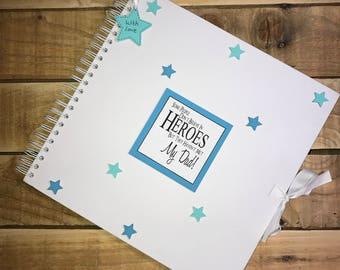Handmade Personalised Dad Scrapbook / Photo Album / Gift / Memory Book