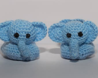 Baby booties elephant