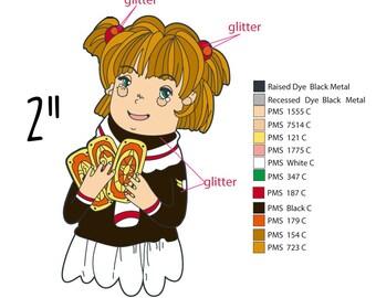 Cardcaptor Sakura - enamel pin - enamel pin sale - Clow card - magical girl - Sailor Moon - Kero - anime pin - school supplies