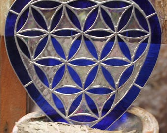 Seed of Life / Flower of Life Sacred Geometry Stained Glass / Crystal Grid Template