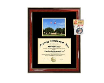 asu diploma frame  angelo state university diploma frame campus certificate asu university degree frames framing gift graduation plaque document