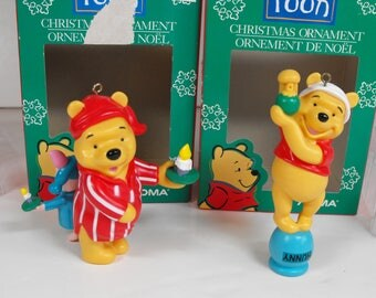 Two Noma Winnie-the-Pooh Ornaments Christmas  (1238)