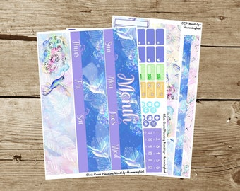 Choose your Month(ly) kit-- Hummingbird (for use in Erin Condren Life Planner)