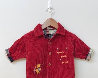 Baby Red Cord Disney Tartan Jacket