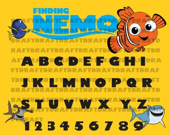Easy cut and assemble multilayered  Finding Nemo SVG  Dory Finding Nemo Logo  Clipart Cut File for Cricut or  Silhouette