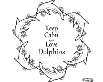 Dolphin Monogram Circle SVG
