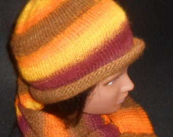 Bright Colored Hat and Cowl