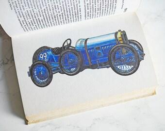 Vintage Illustrated Car Book | Vintage Car Illustrations | Car Illustrations | Car book