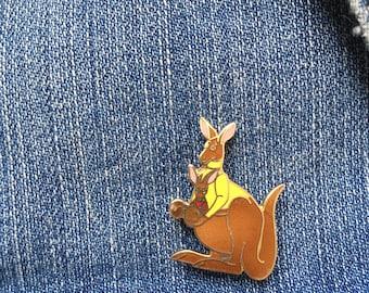 VINTAGE Kangaroo and Baby Enamel Pin