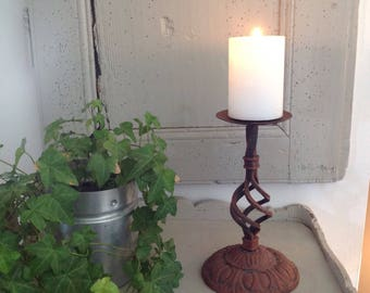 Cast iron candle stick
