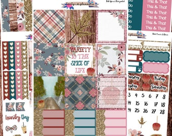 HORIZONTAL KIT, Apple Cider, Weekly Sticker Kit, Erin Condren, EC Horizontal, Planner Stickers, Sticker Kit, Stickers