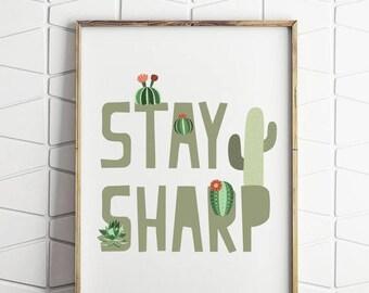 70% OFF SALE cactus print, cactus art, cactus printable, kids botanical print, kids plantprint, cactus wall art, instant download, print art