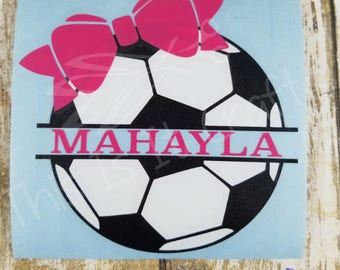 Soccer Decal - Car Decal - Personalized Soccer Decal - Soccer Sticker - Soccer Ball Decal - Sports Decal - Vinyl Decal