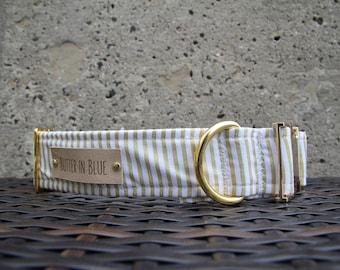 Gold Stripes Dog Collars