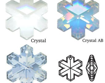 Swarovski Crystal 6704 Snowflake Pendant 20mm All Colours