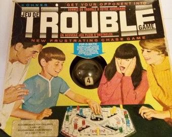 Vintage 1965 Trouble Game By Kohner