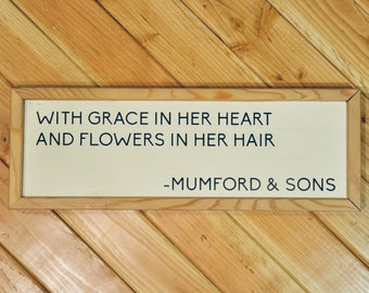 Mumford & Sons quote sign (large)
