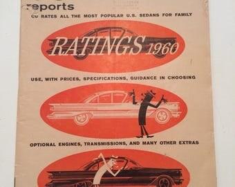 Vintage Consumer Report Auto Edition 1960