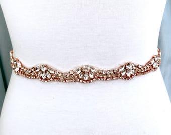 Bridal Sash Rose Gold - The Perfect Rose Gold Wedding Belt