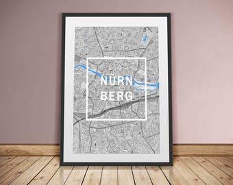 Nuremberg-framed city-digital printing