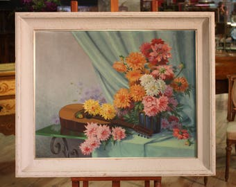 French signed still life painting