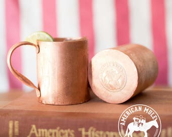 American Mule 100% Copper Mug of Superior Quality Handmade in The Copper State, USA)14oz Built for A Lifetime With Thick American Copper)