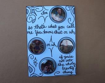 The Dude Button Set | Big Lebowski Pinback Button | Greeting Card