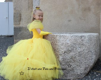 Princess dress inspired by Belle from beauty and the beast