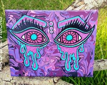 Trippy Eyes Glitter Painting