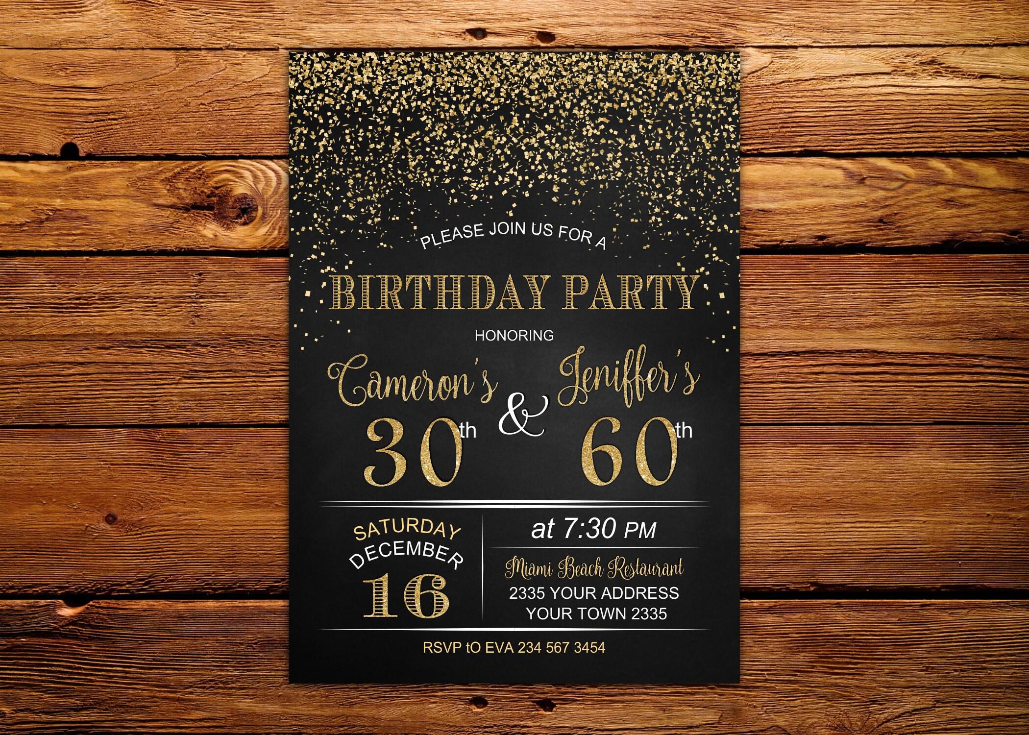 Adult joint birthday invitation joint birthday party invitation adult joint birthday invitation joint birthday party invitation combined party co birthday filmwisefo