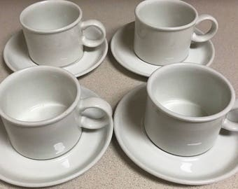 Midwinter Stonehenge Four Cups and Saucers