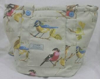 Gorgeous Garden Birds Vegan, Handmade, Shoulder Bag.