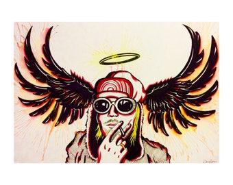 Nirvana's Kurt Cobain Pop Art