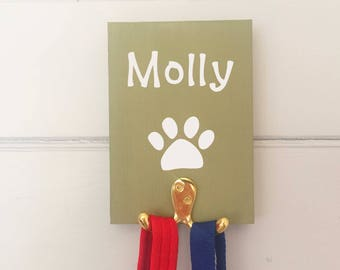 Dog Lead Holder - Personalised - Dog Leash Holder - Assorted Colours - Dog Lovers Gift - Dog Gift - Wall Hook