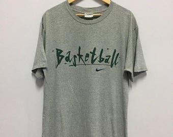 SALE 25% Vintage 90s Nike Basketball Tshirt Size M