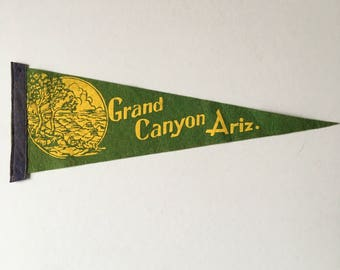 Vintage Grand Canyon Arizona Pennant - American 1950's