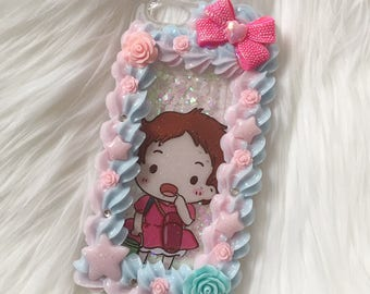 ponyo decoden glitter fall case for iphone 6/6s plus