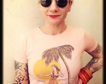 40s 50s inspired Aloha t-shirt size S