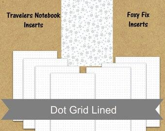 B6 insert TN insert, dot grid planner insert, printable planner insert, pdf planner pages, weekly agenda