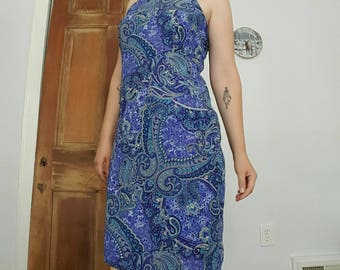 Vintage Blue Paisley Dress by Eye Candy